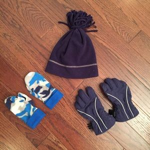 Hanna Andersson hat and mittens